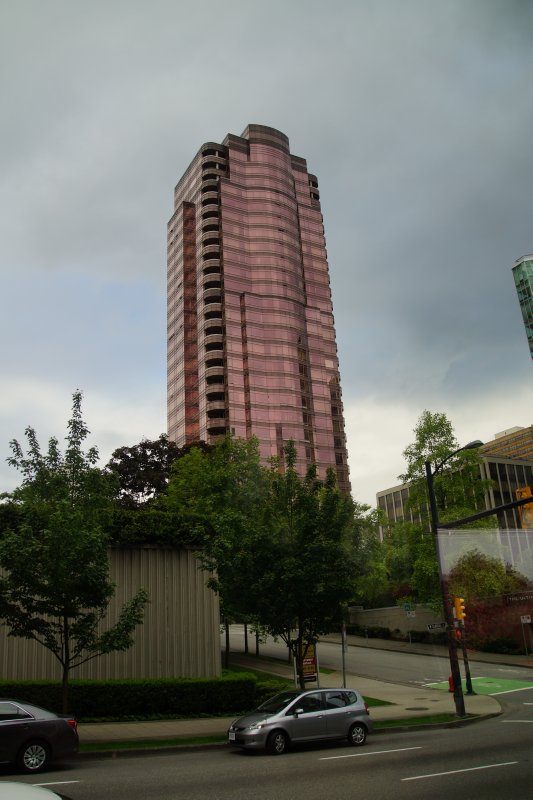 Pink building Vancouver