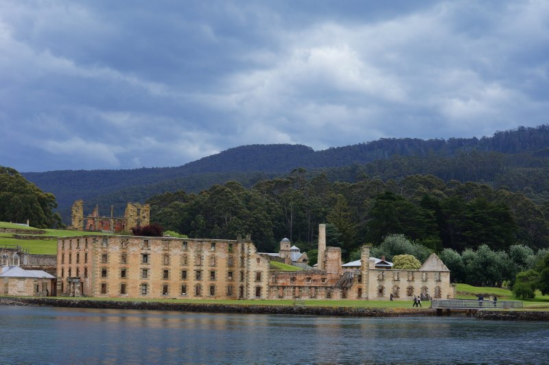 Port Arthur with Penitentiary in foreground