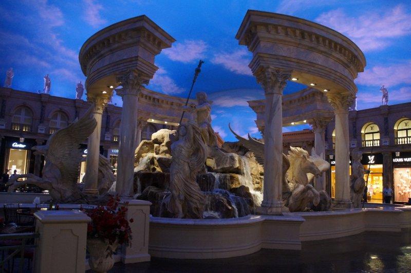 Replica Trevi fountain inside Caesars Palace