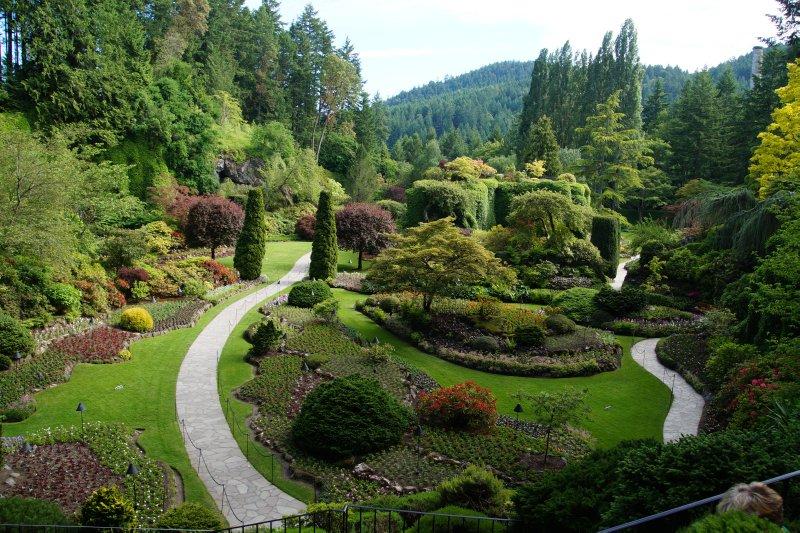 Sunken Garden at  The Butchart Gardens