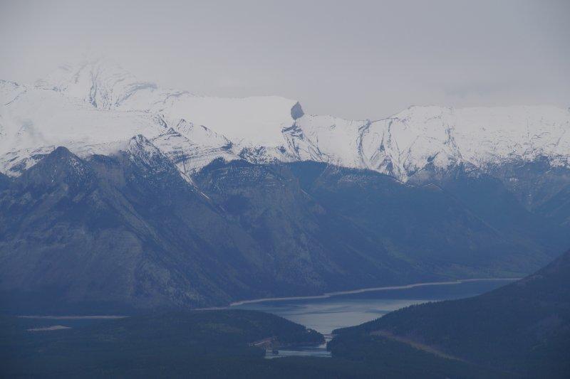 Superb view from Gondola station on Sulphur Mountain