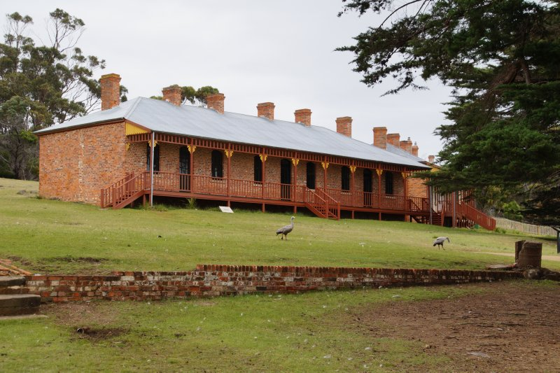 Terrace houses built 1880s on Maria Island
