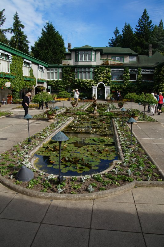 The  Italian Garden at  The Butchart Gardens