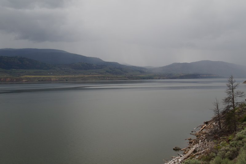 Thompson River widens into 40km long Kamloops