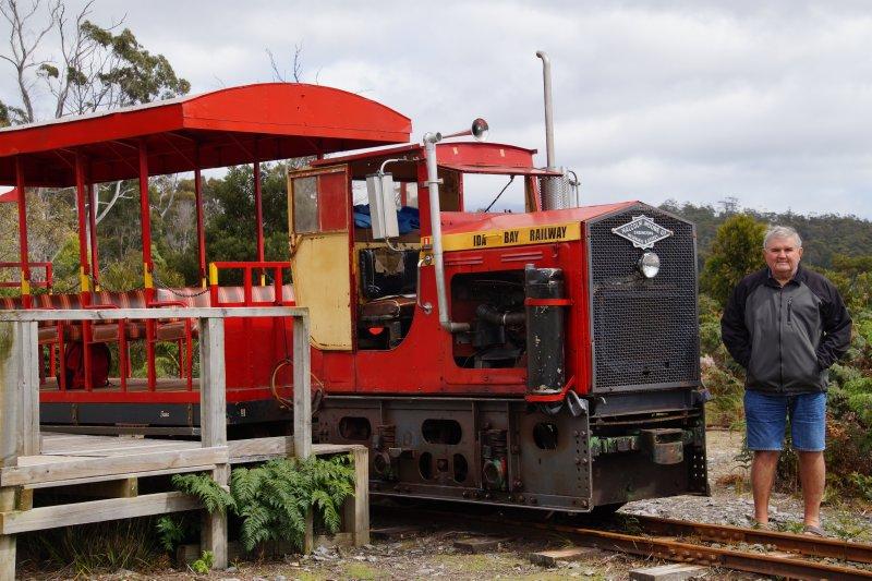 Train at Ida Bay terminus