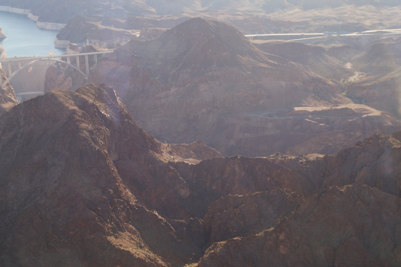 View from Eurocopter EC130 enroute to Grand Canyon Lake Meade Hoover Dam