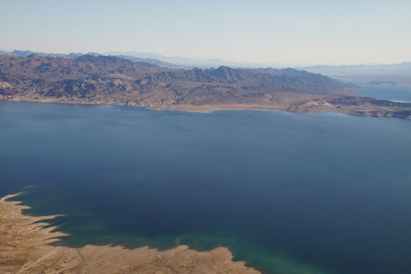 View from Eurocopter EC130 enroute to Grand Canyon Colorado River inflow