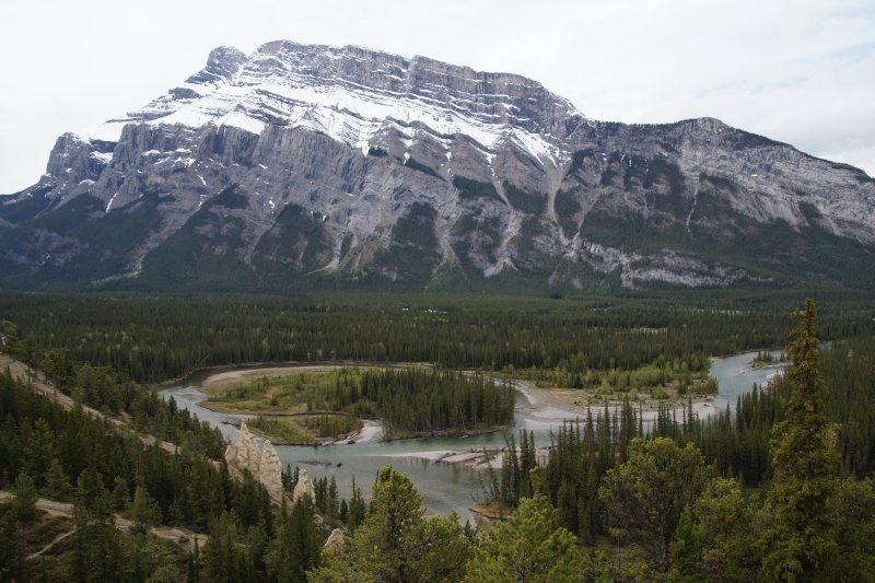 View from Tunnel Mountain with Hoodoos in middleground