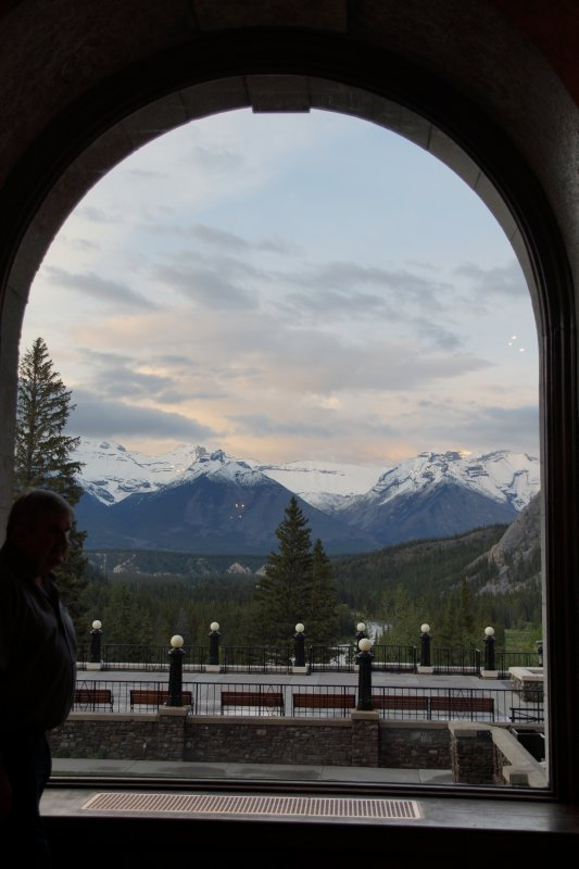 View from the Conservatory at The Banff Springs Hotel 12