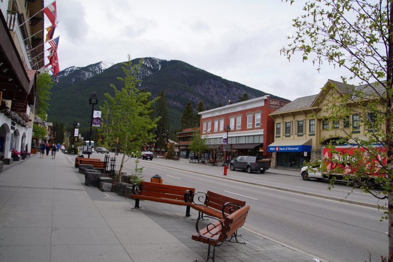 View from Bannf Main Street