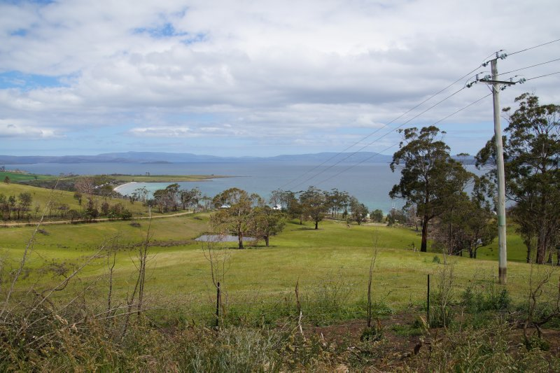 View from road new Dodges Ferry