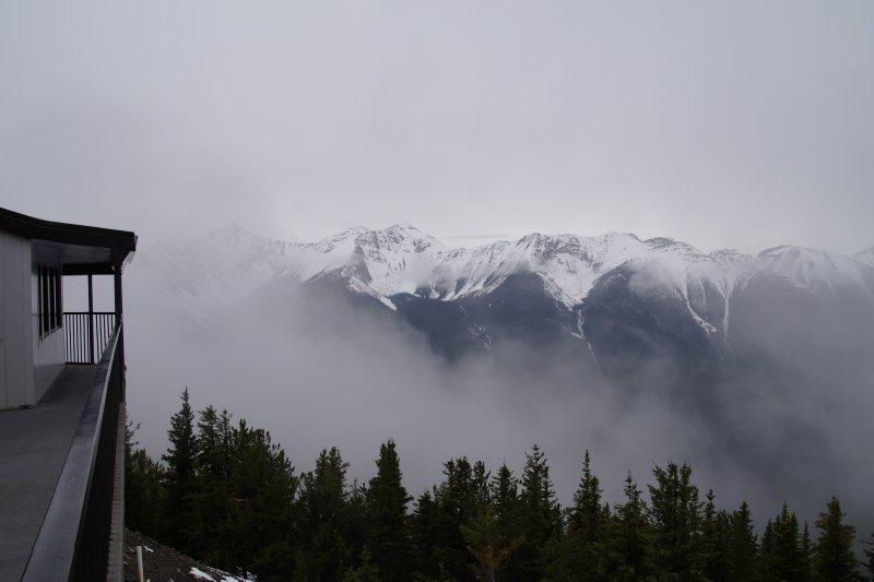 View from Gondola station on Sulphur Mountain