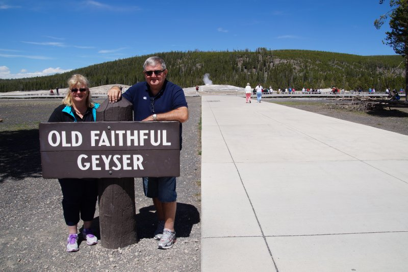 Yellowstone National Park Upper Geyser Basin Visitor Centre - Old Faithful - Colleen and David