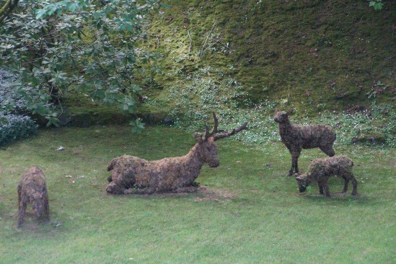 moss and branch deer
