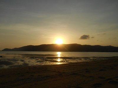 sunset, kuta, lombok