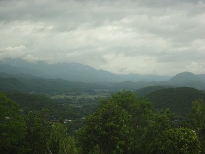 View from the mountain temple