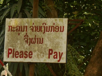 Laos idiosyncrasy regarding tourism.