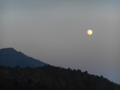 Moon over the Himalayas