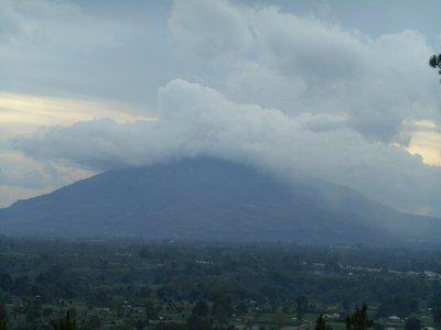 Volcano after eruption