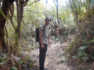Going Down mount Sibayak
