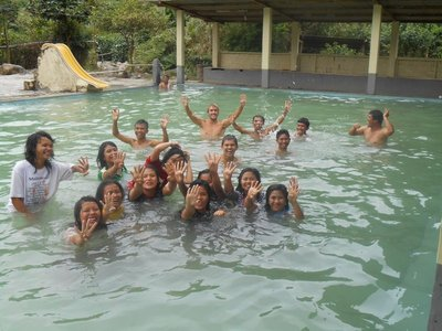 Hot springs with lot of friendly people
