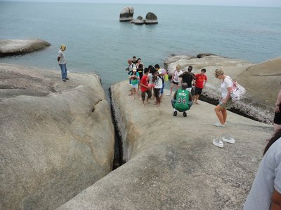 One of the tourist attractions is a hole in a rock with a distinctive shape