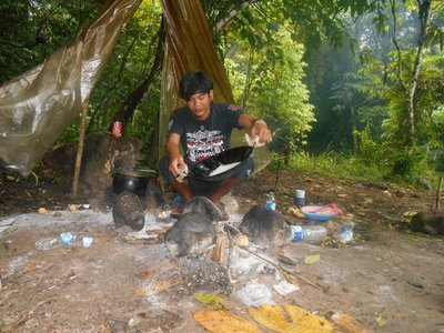 Cook in our camp, abdul