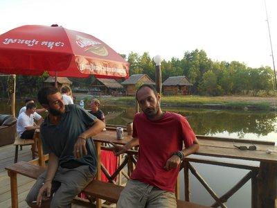 With Alberto, traveler who we met in Indonesia