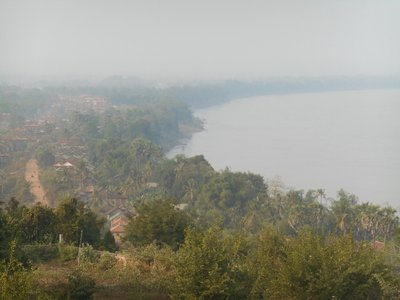 View over the Mekong from the top of the hill