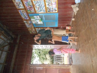 Playing at home with Sokha's children