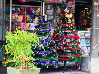 Christmas decoration kampong Cham