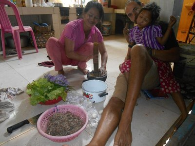 Learning how to cook Cambodian style