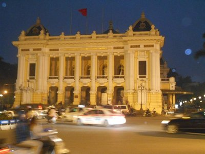 Opera house, Hanoi. French architecture was still visible on some parts of the city