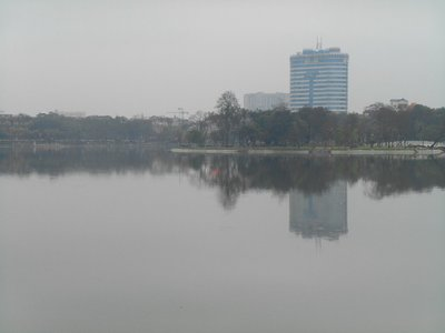 Lake inside Lenin park