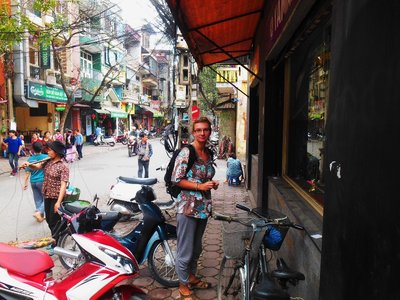 Walking around Hanoi city