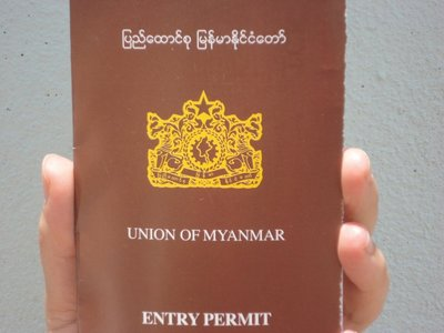 Passports were taken and you were issued this temporary pass