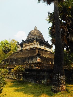 A lot of stupas and temples in Luang Prabang