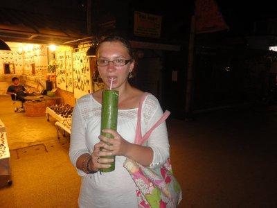 Joanna trying new things, lemongrass tea from Bamboo