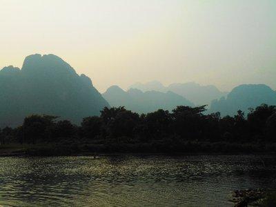 River view, Vang Vieng