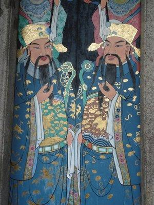 Door of chinese temple