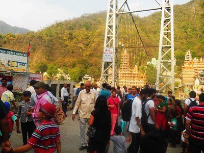 Rishikesh was a very crowded place