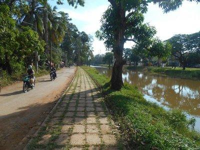 Along  the river, Siem Reap