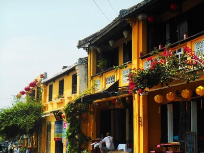 Hoi An is the first town that we've have seen in South East Asia preserving so much of their own architecture.