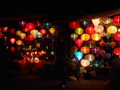 Lanterns at night, Hoi An