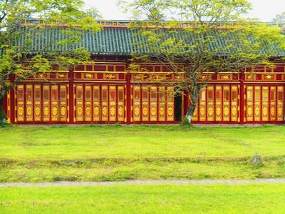 Imperial pavillion. Forbidden city, Hue