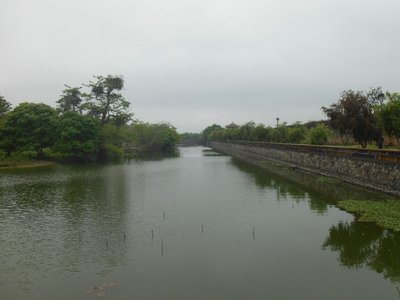 Inner moat around the main complex, forbidden city. Hue