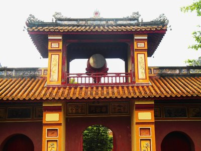 Doorway to the temple complex. Forbidden city Hue