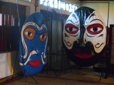 Masks in the imperial palace, Hue