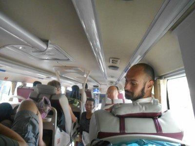 New type of bus, sleeping bus.
