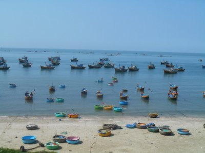 Seaside in front of the fishing village